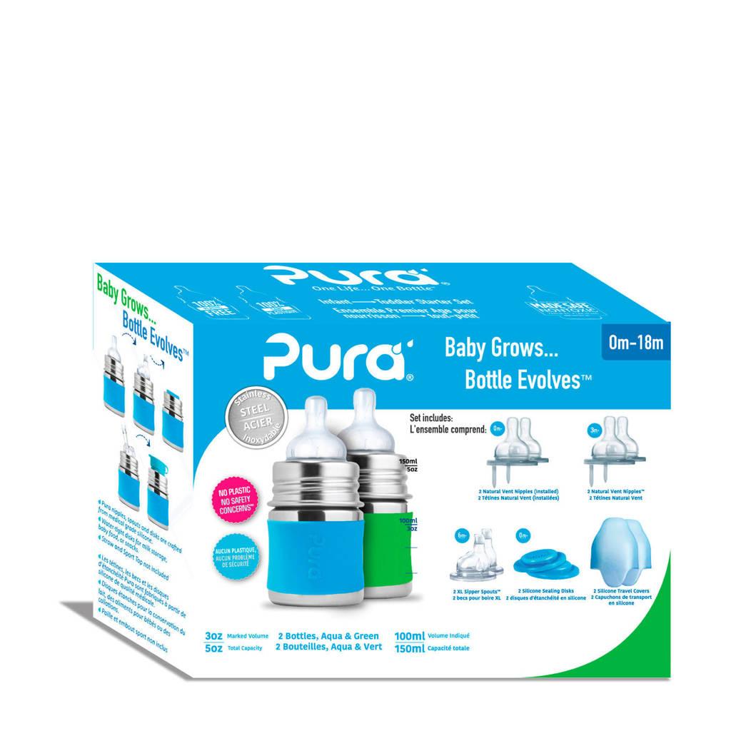 Pura starterset 150 ml aqua/groen, Aqua/groen