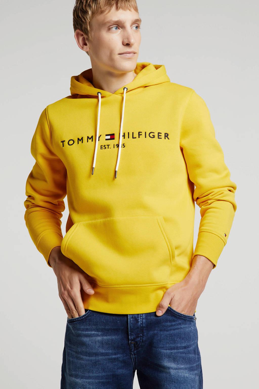 Tommy Hilfiger hoodie met logo geel, Geel