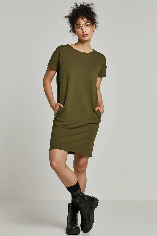 Pieces jurk groen, Donkergroen