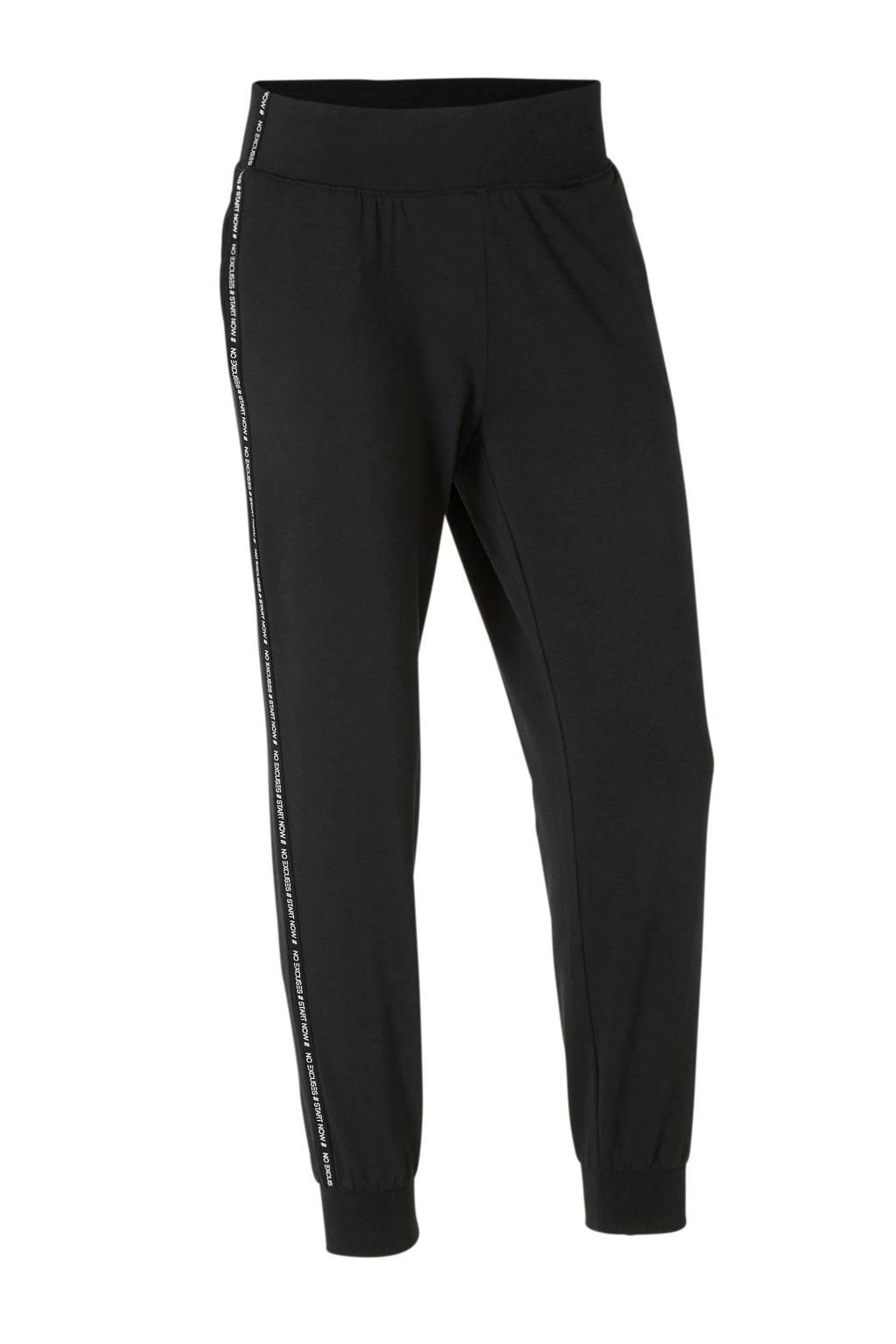 ESPRIT Women Sports 7/8 sportbroek zwart/wit, Zwart//wit