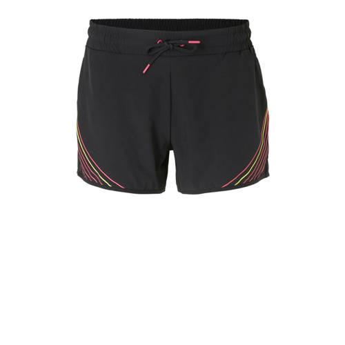 ESPRIT Women Sports sportshort zwart-roze-geel