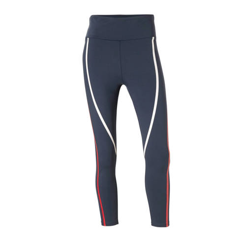 ESPRIT Women Sports sportbroek donkerblauw-rood-wit
