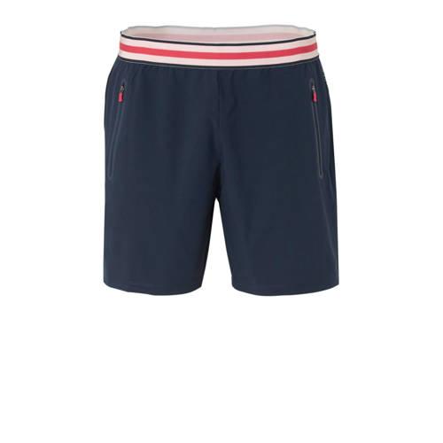 ESPRIT Women Sports sportshort donkerblauw-roze-rood