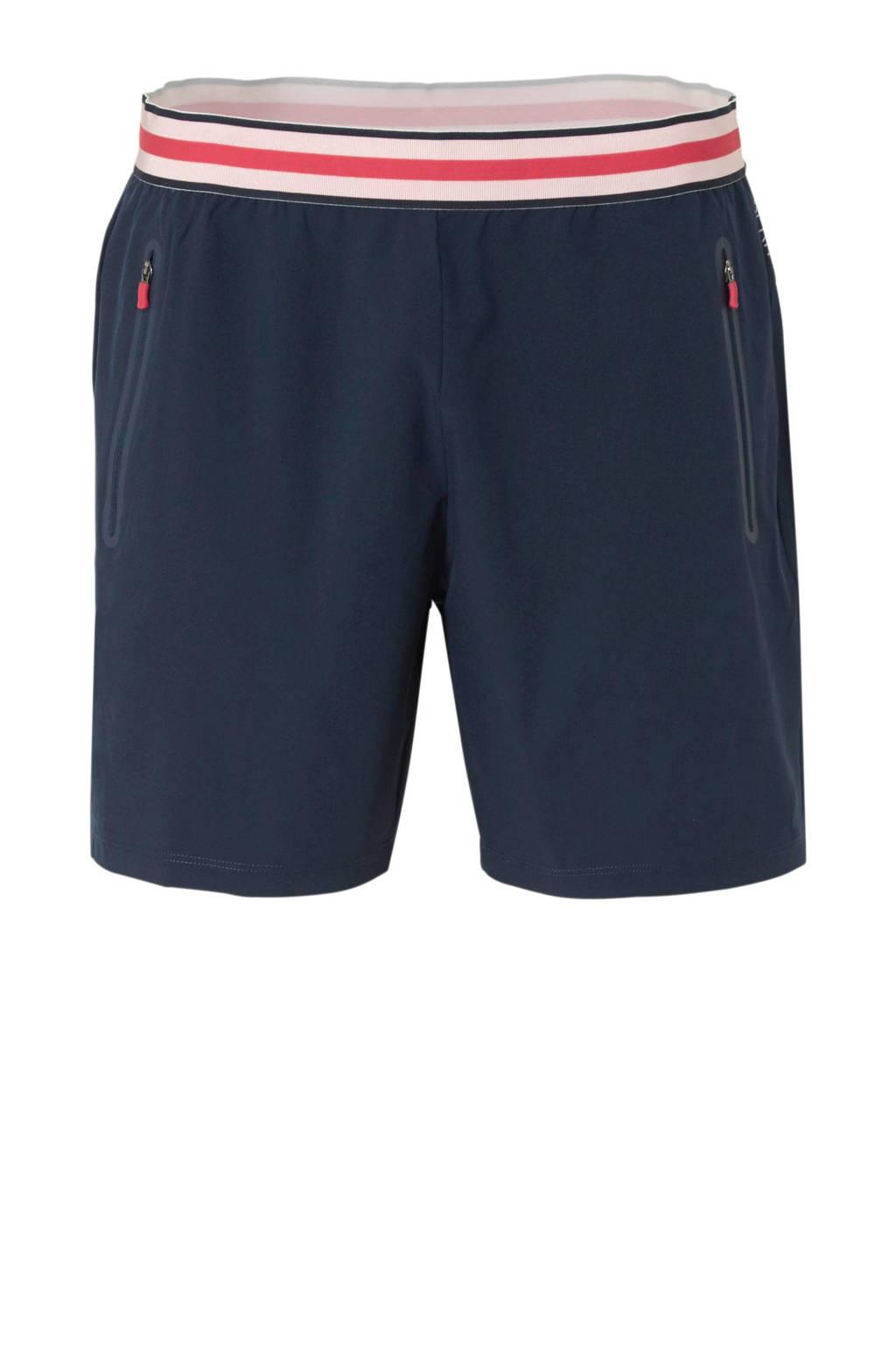 ESPRIT Women Sports short, Donkerblauw/roze/rood