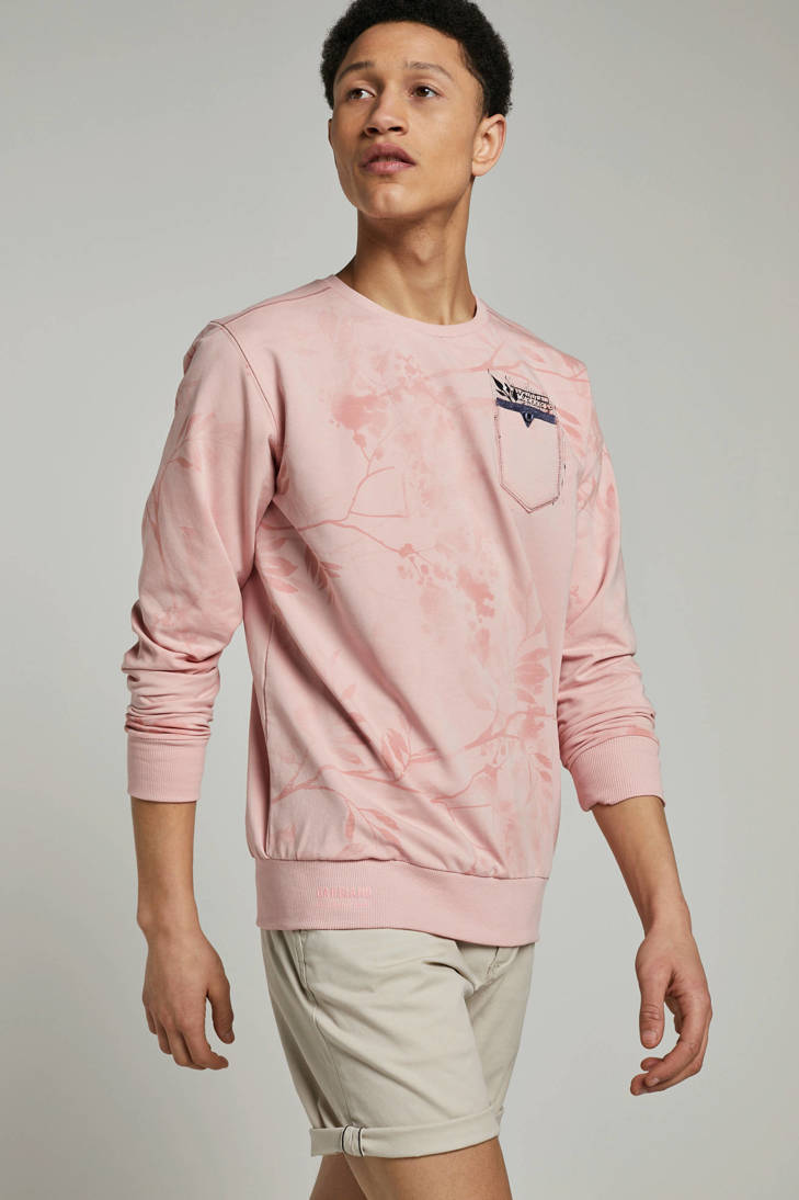 roze met GABBIANO sweater GABBIANO sweater print xHa6qw7z