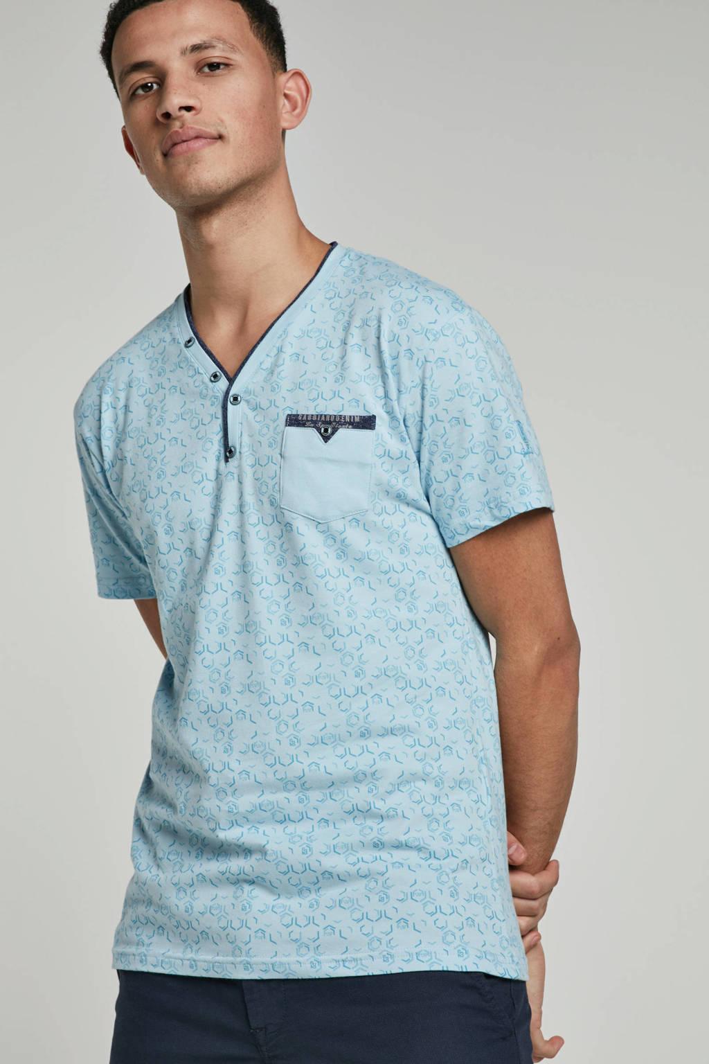 GABBIANO T-shirt met print, Lichtblauw