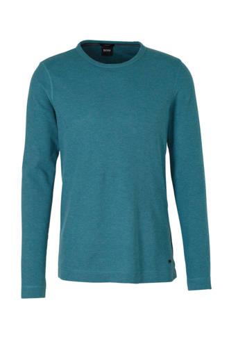 slim fit T-shirt groen