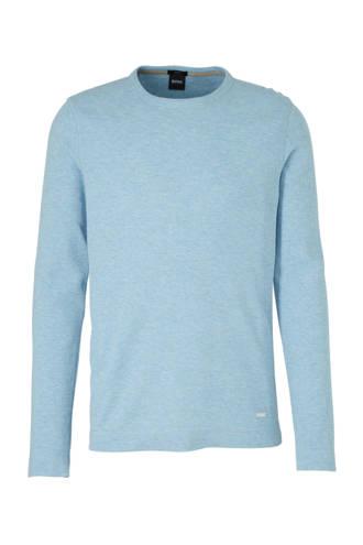 slim fit T-shirt lichtblauw