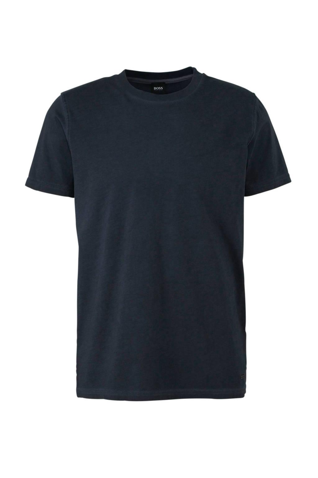 BOSS Casual T-shirt donkerblauw, Donkerblauw