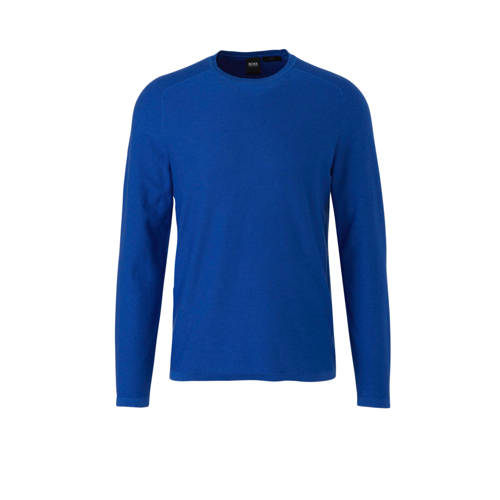 Boss Casual gem????leerde slim fit trui blauw
