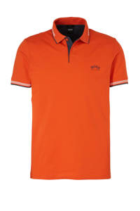BOSS Athleisure slim fit polo oranje, Oranje