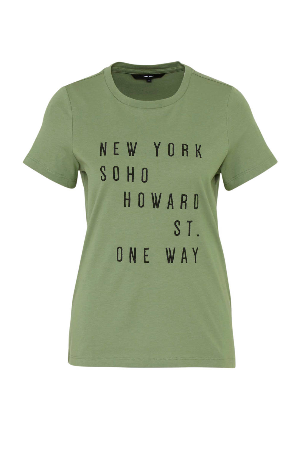 AWARE by VERO MODA T-shirt met borduursels groen, Groen