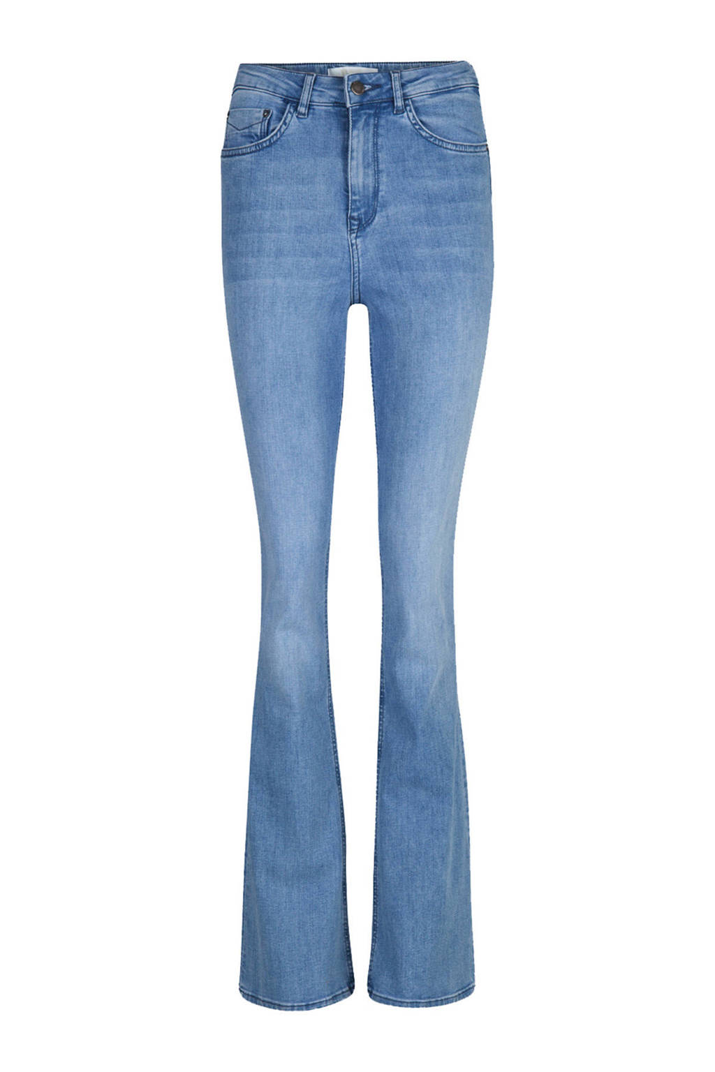 WE Fashion Blue Ridge flared jeans denim, Lichtblauw