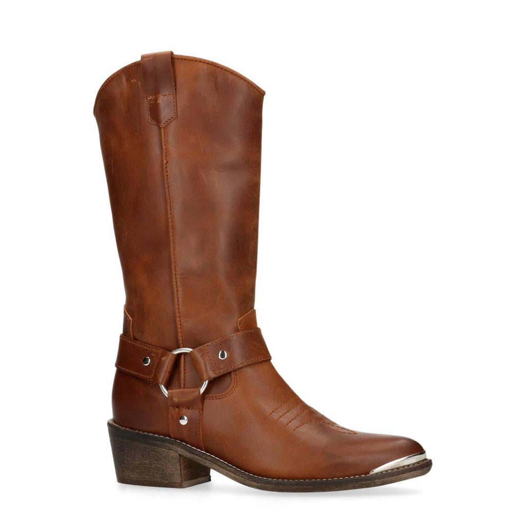 Sacha leren cowboy laarzen bruin, Bruin