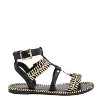 River Island   sandalen zwart/goud, Zwart/goud