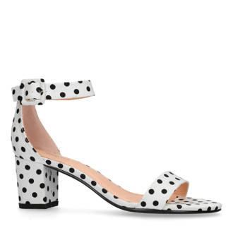 sandalettes wit/zwart