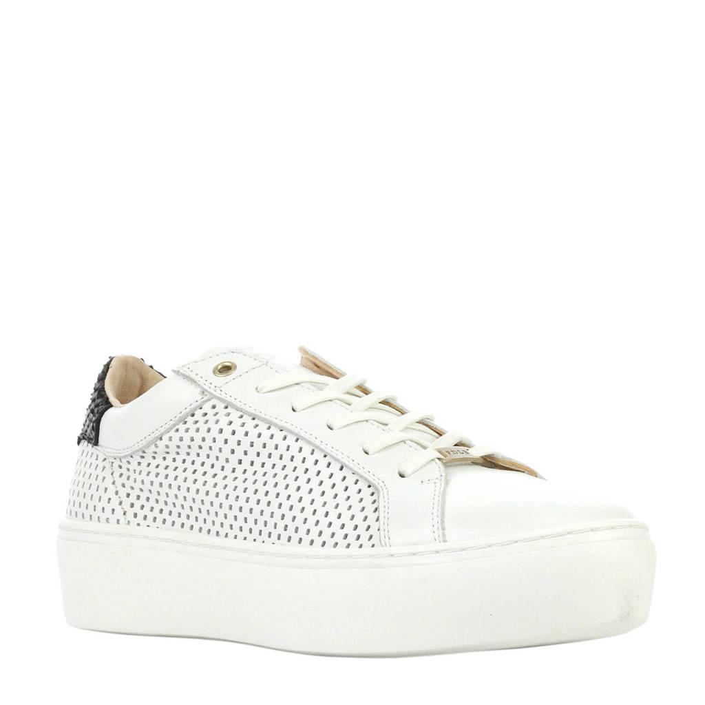 Fred de la Bretoniere  leren sneakers wit, Wit