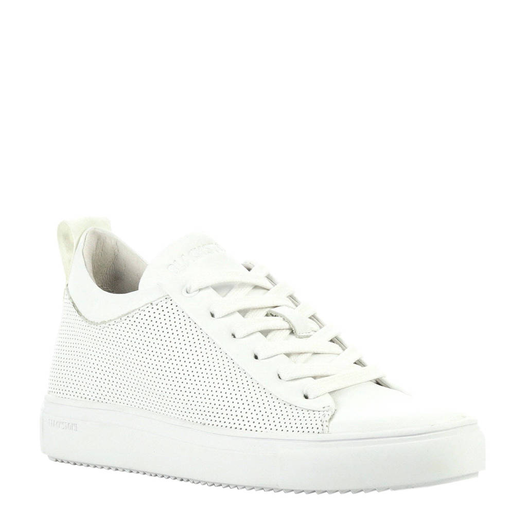 Blackstone  leren sneakers wit, Wit