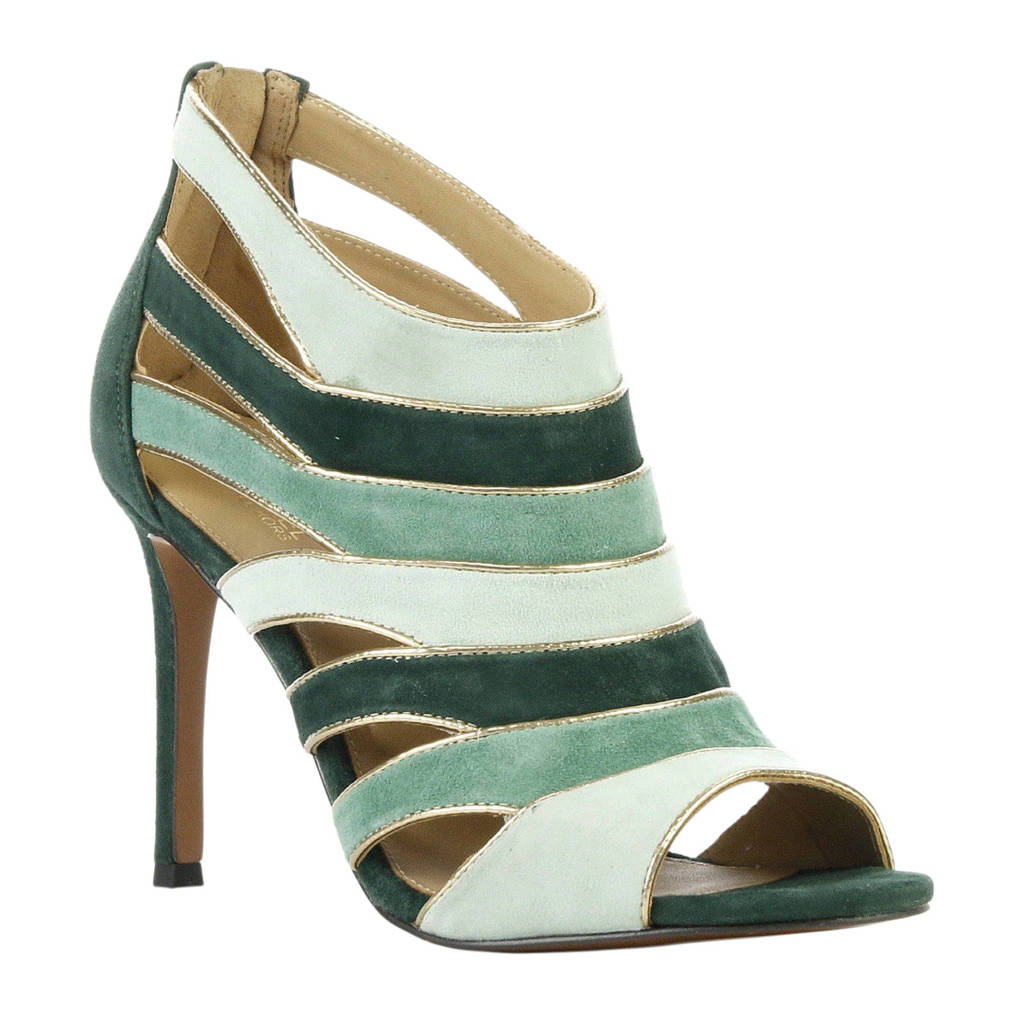 Michael Kors Harper Open suède sandalettes groen, Groen