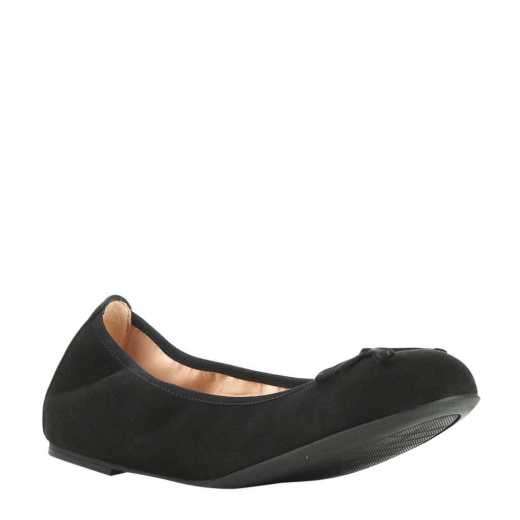 Unisa Acor Na suède ballerina's zwart, Zwart