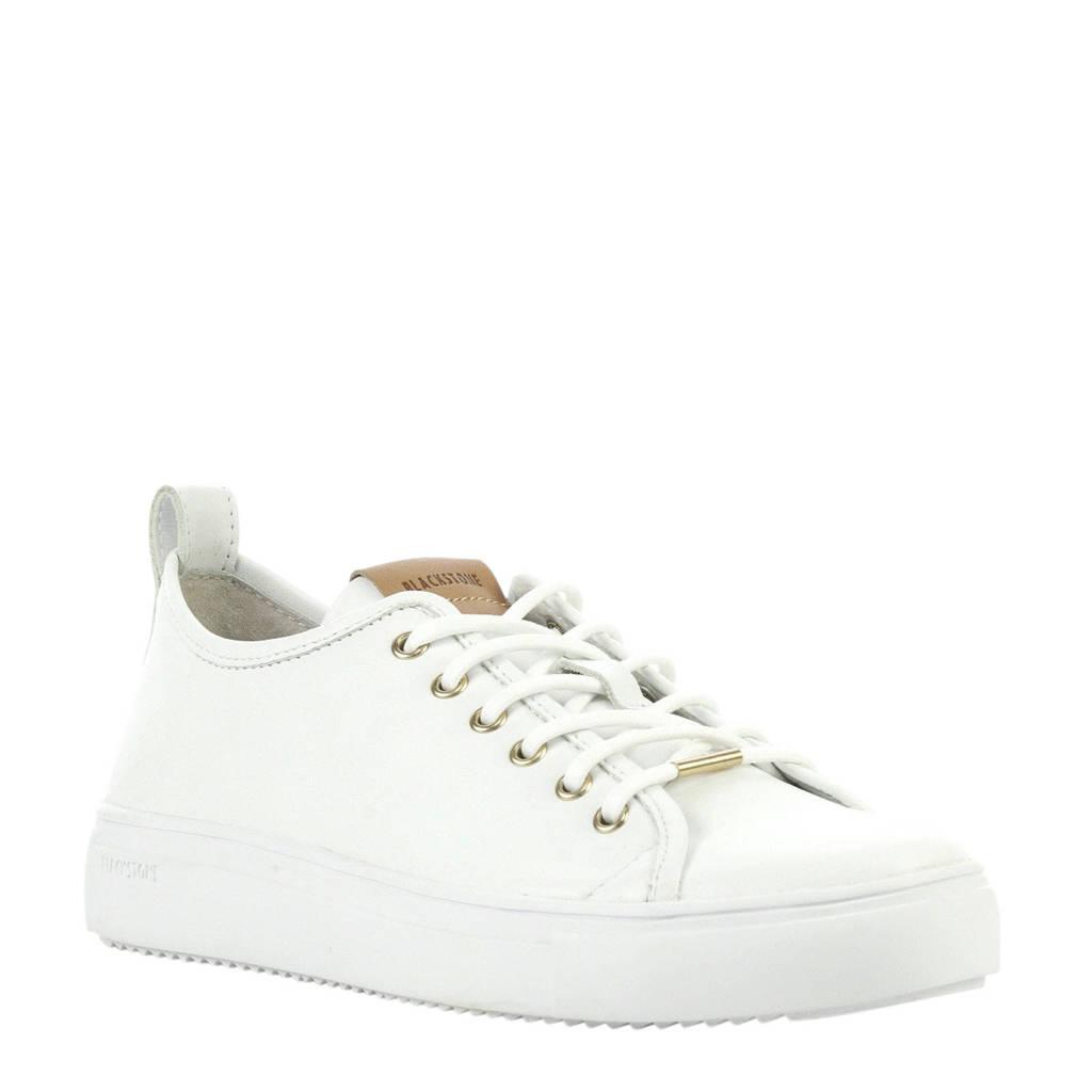 Blackstone  PL97ld leren sneakers wit, Wit