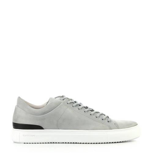 Blackstone leren sneakers grijs