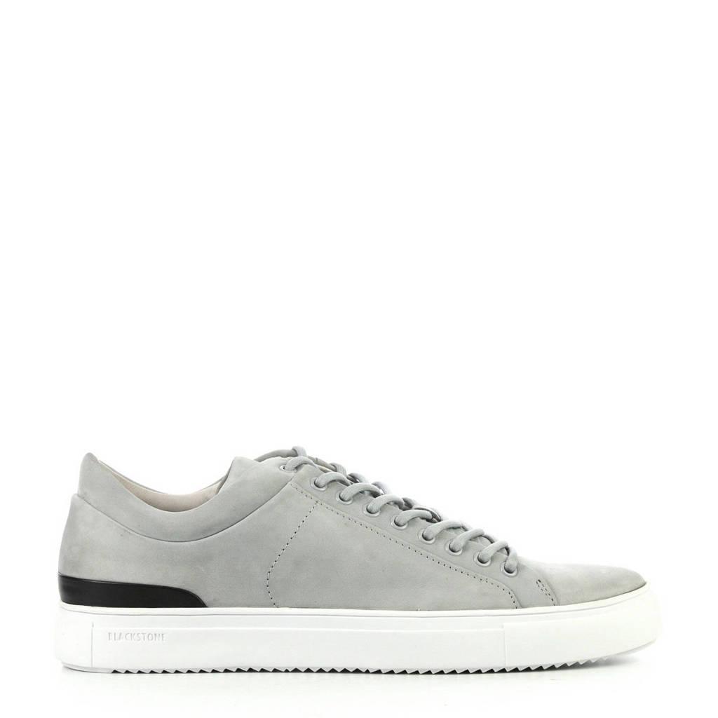 Blackstone   leren sneakers grijs, Grijs/zwart