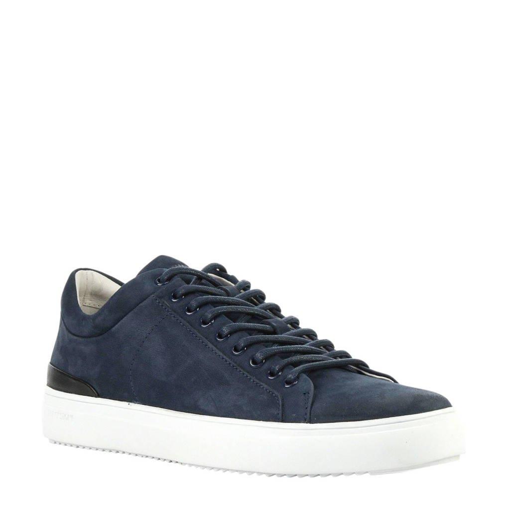 Blackstone   nubuck sneakers donkerblauw, Blauw
