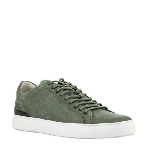 Blackstone nubuck sneakers groen