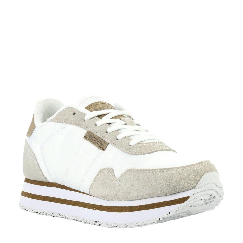 Woden   Nora II Plateau sneakers wit, Wit