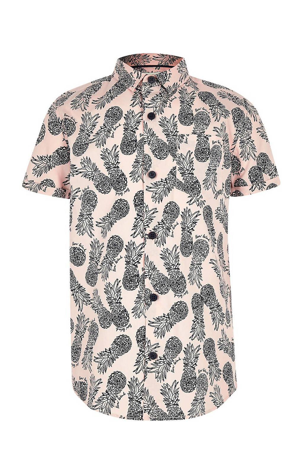 River Island overhemd met ananassen roze, Lichtroze