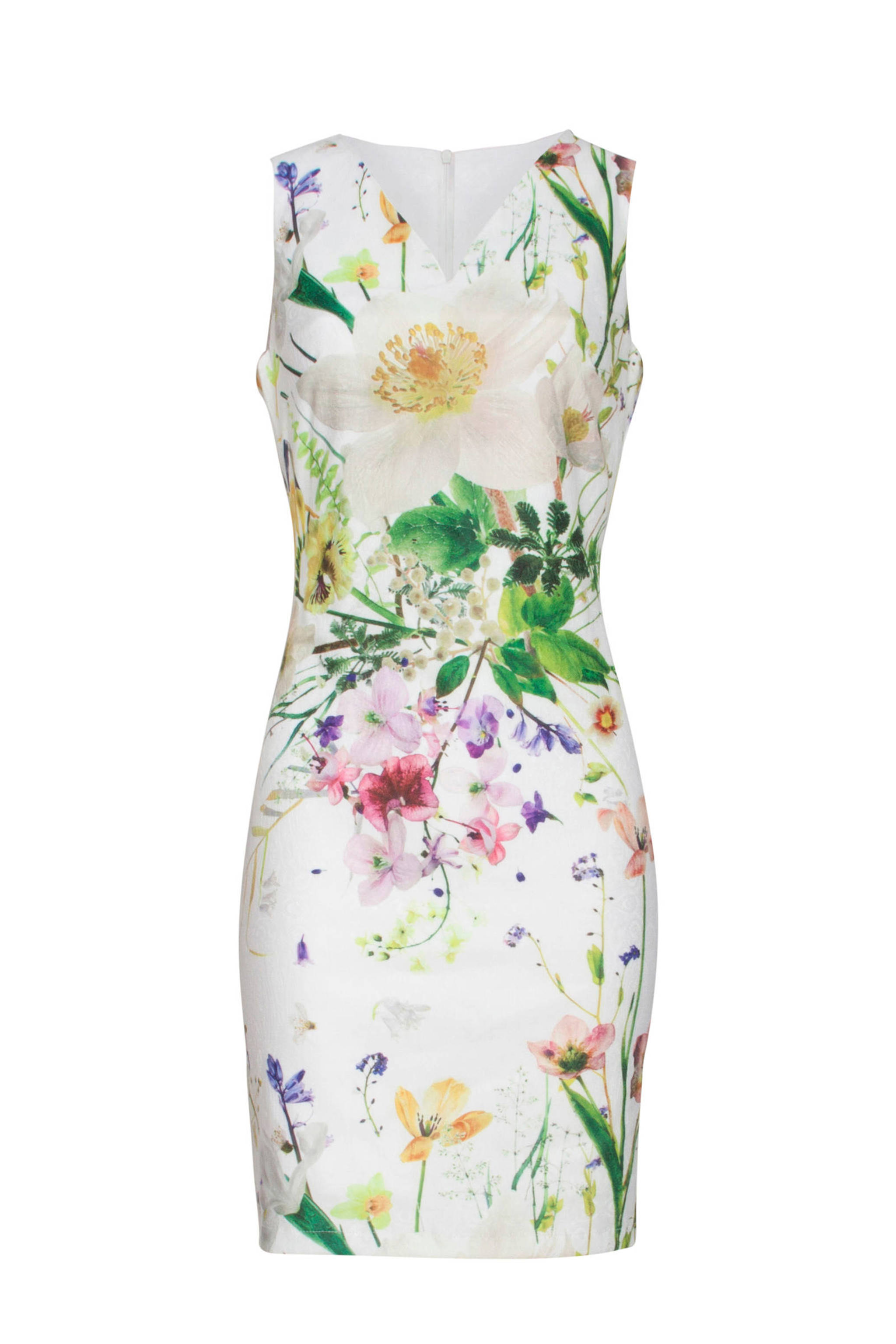 12344a5af3d563 Smashed Lemon gebloemde jurk met borduursels