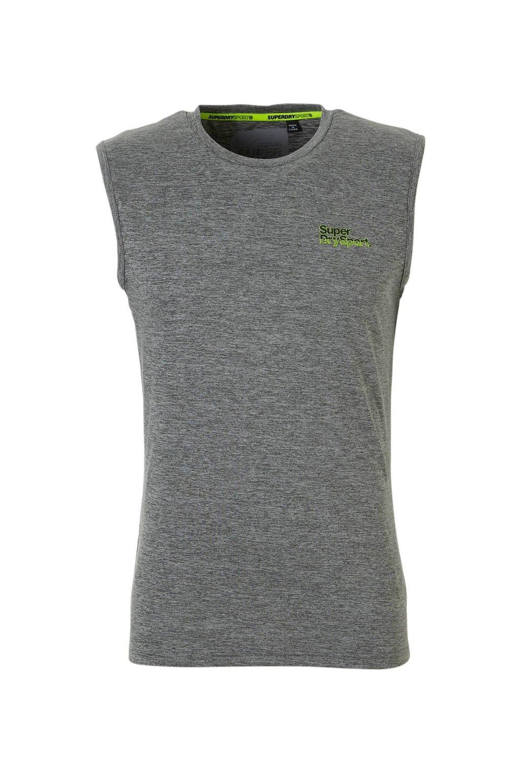 Superdry Sport   T-shirt grijs, Grijs