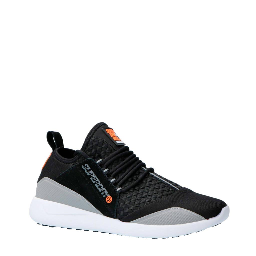 Superdry Sport  Superlite Runner sneakers zwart, Zwart/grijs