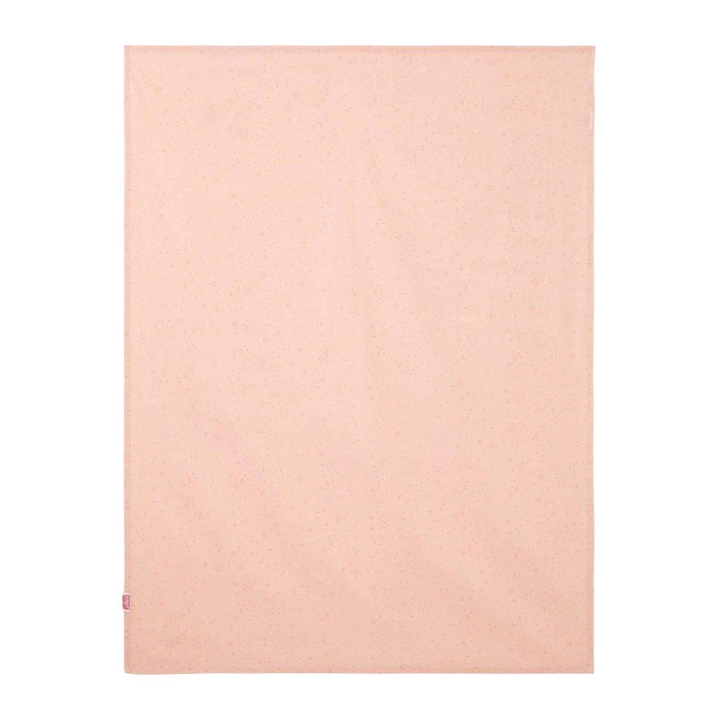 Jollein baby ledikantlaken 120x150 cm mini dots roze, Roze