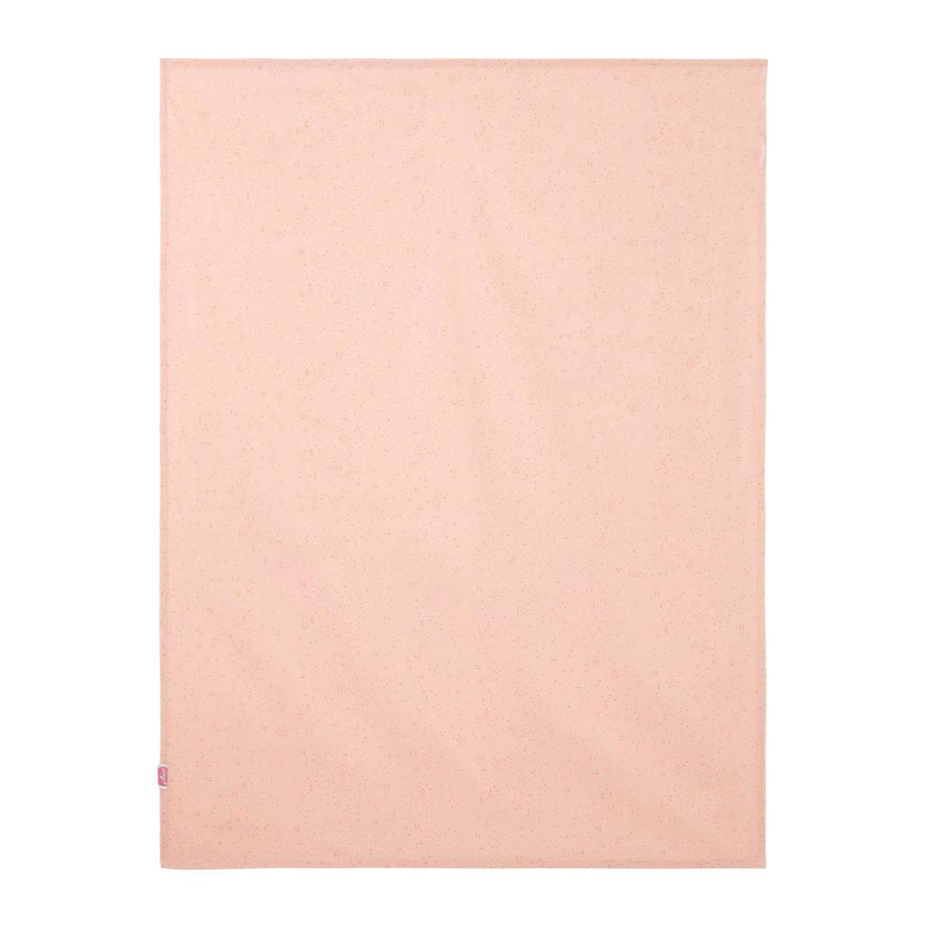 Jollein ledikantlaken 120x150 cm mini dots, Roze