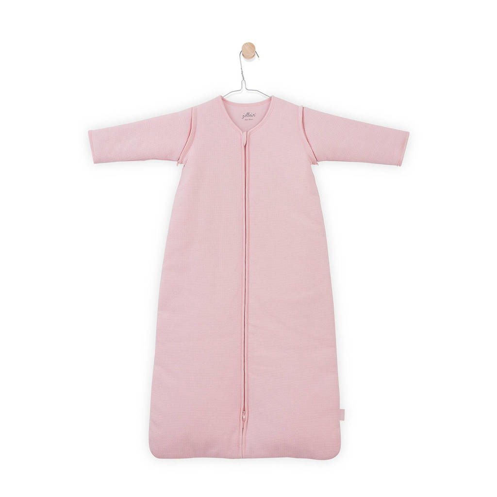 Jollein Tiny Waffle baby slaapzak 4 seizoenen 90 cm roze, Roze