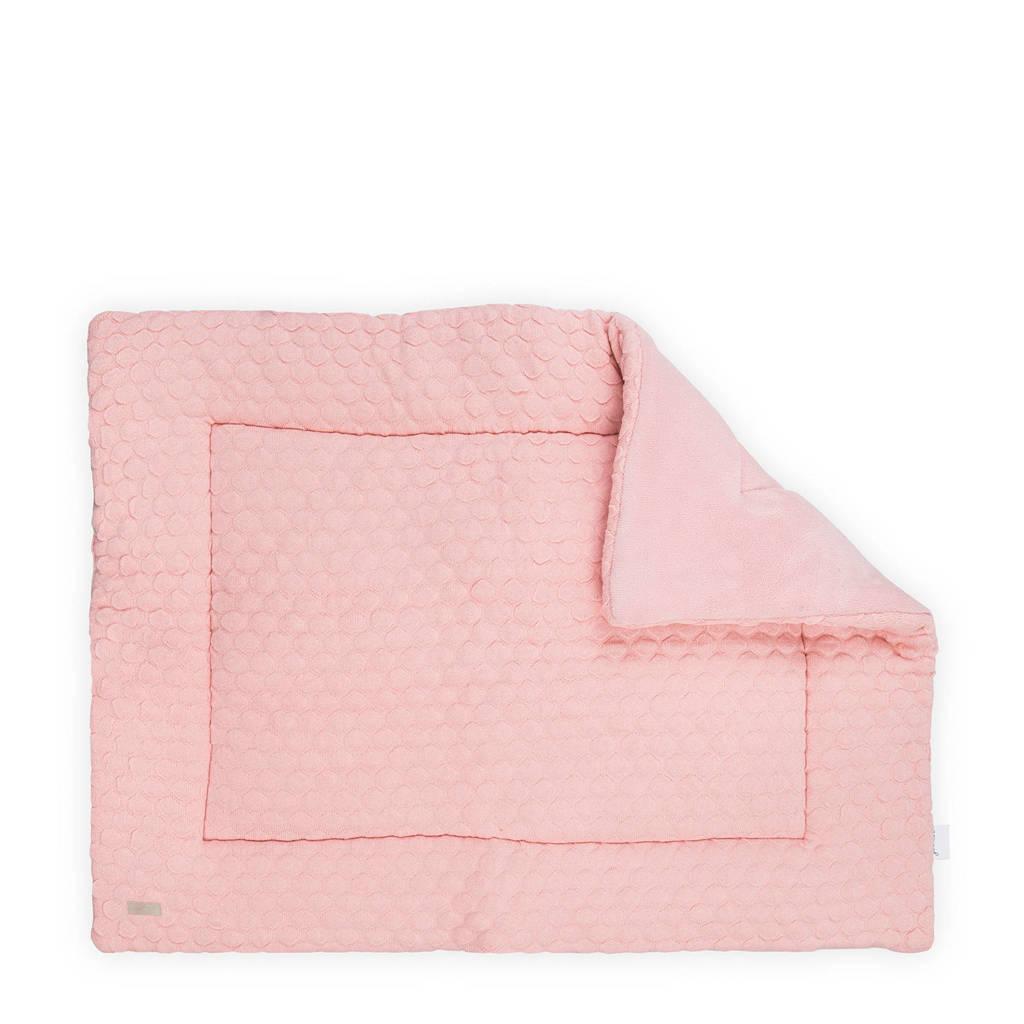 Jollein Fancy Knit boxkleed 80x100 cm, Roze