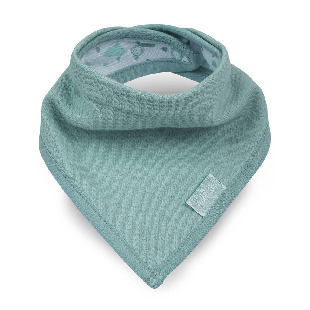Jollein Tiny waffle bandana slab soft green, Groen