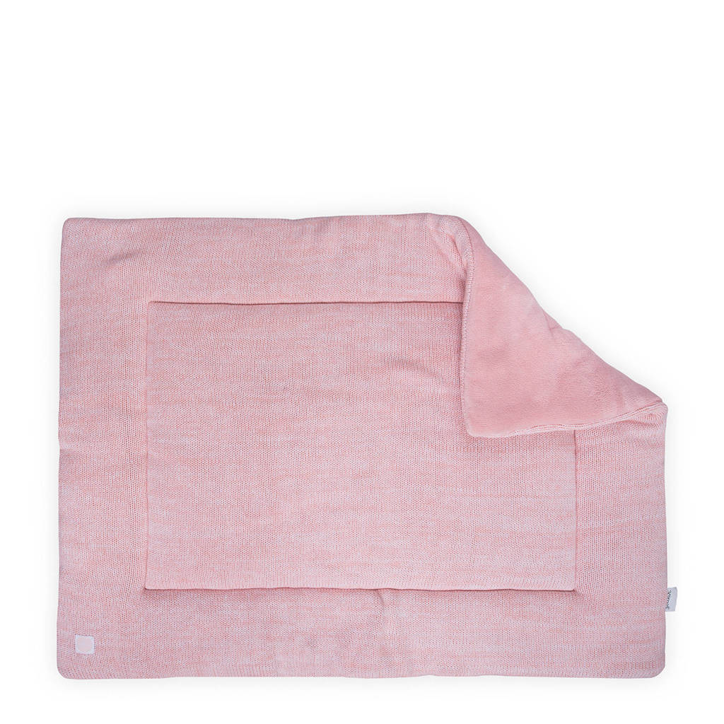 Jollein Melange Knit boxkleed 80x100 cm, Roze