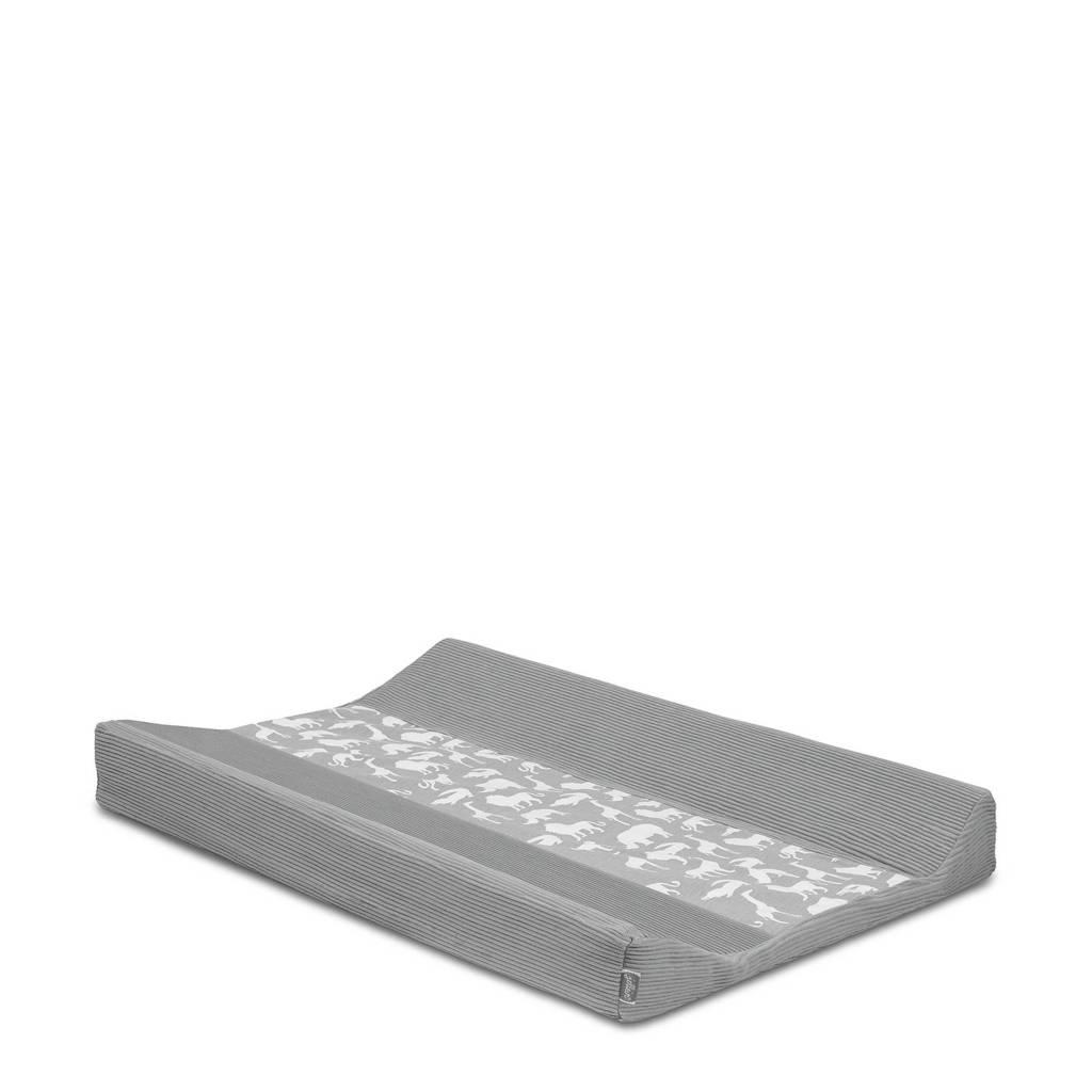 Jollein Safari aankleedkussenhoes 50x70 cm stone grey, Grijs