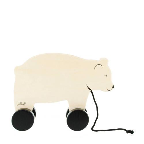 Jollein houten beer trekdier kopen