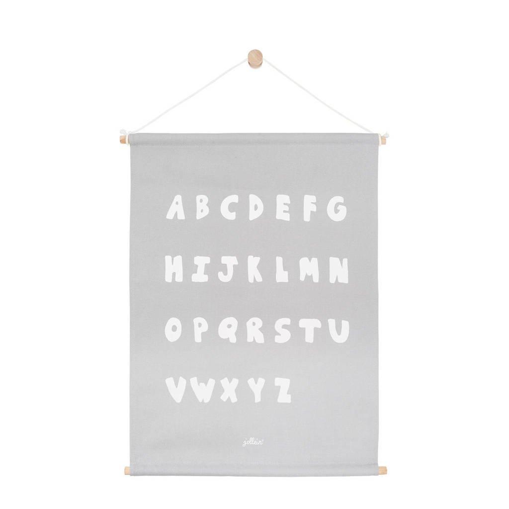 Jollein ABC poster (42x60 cm) soft grey  ( cm), Grijs
