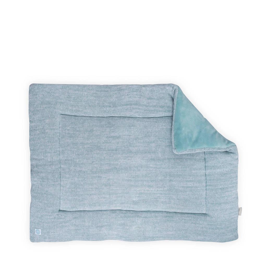 Jollein Melange Knit boxkleed 80x100 cm, Blauw