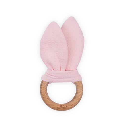 Jollein Tiny waffle bijtring Ø 7cm soft pink kopen