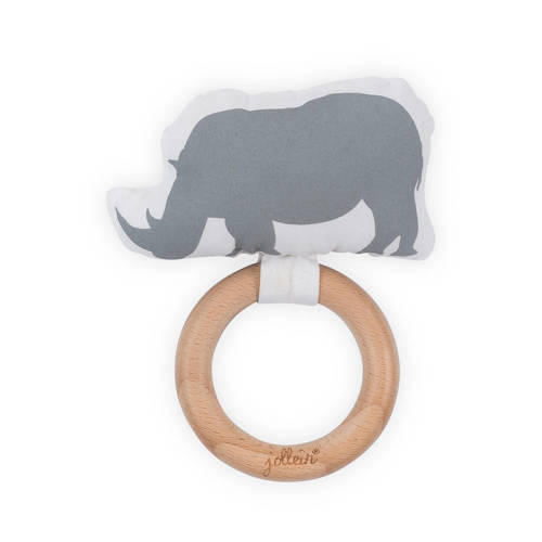 Jollein Safari bijtring Ø 7 cm stone grey kopen
