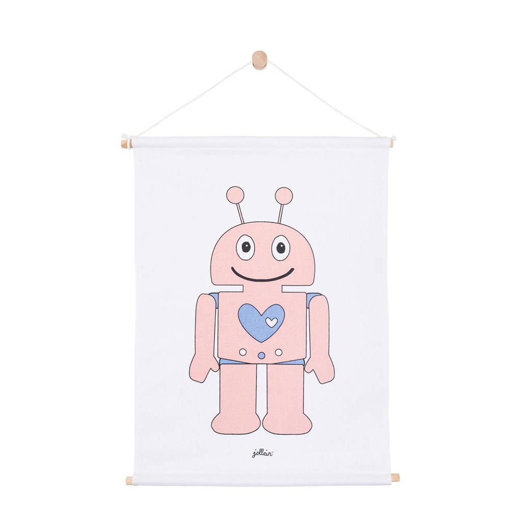Jollein Robot poster (42x60 cm) roze, Roze