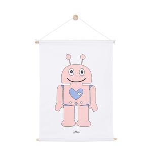 Robot poster (42x60 cm) roze  (42x60 cm)