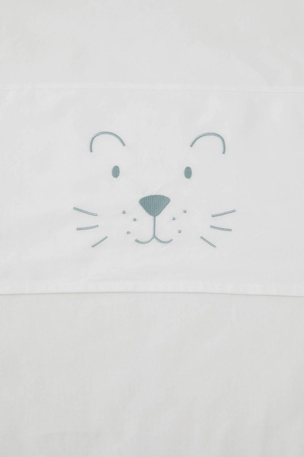 Jollein baby wieglaken 75x100 cm little lion, Groen