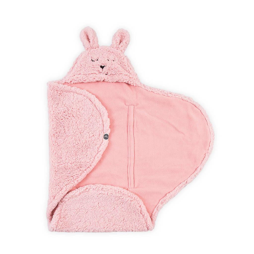 Jollein Bunny wikkeldeken roze, Roze